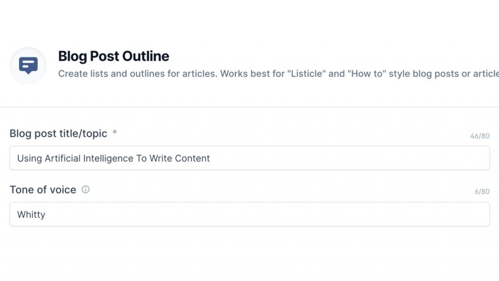 Blog post Outline template