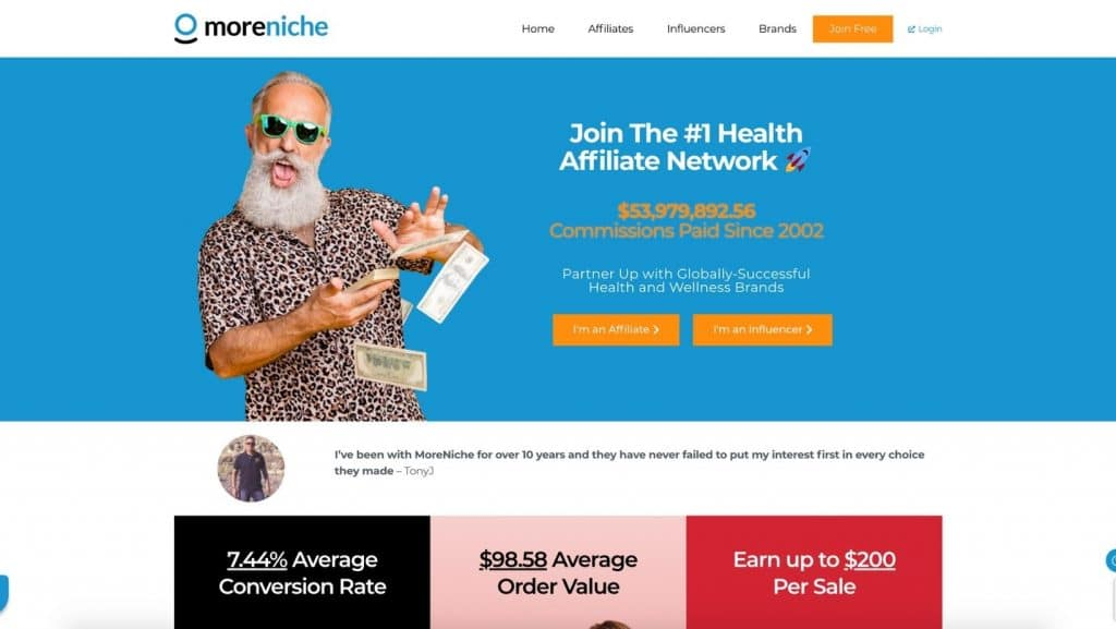 MoreNiche affiliate programs weight loss